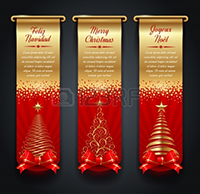 16304469-vertical-golden-banners-with-greetings-and-christmas-trees