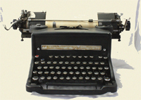 typewriter-Blog